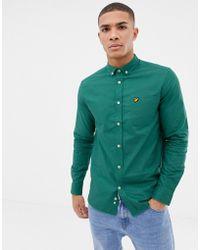 Lyle & Scott - Long Sleeve Oxford Shirt In Green - Lyst
