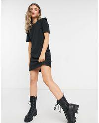 ONLY Черное Платье Мини С Декоративными Деталями На Плечах -черный Цвет