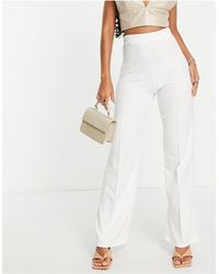 I Saw It First Wide Leg Trouser - White