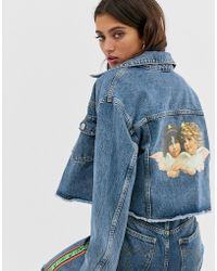 Fiorucci Berty Jacket With Angel Patch - Blue