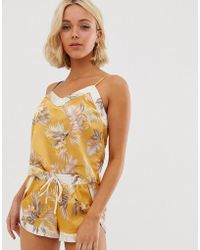 New Look - Pyjama Cami In Tropical Print - Lyst