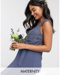 TFNC London - Bridesmaid Maternity Scalloped Lace Top Dress - Lyst