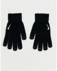 Nike Gants techniques en maille - Noir