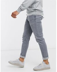 River Island Jeans skinny grigi lavaggio acido - Grigio