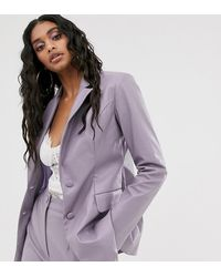 UNIQUE21 Fitted Blazer In Lilac Pu Co-ord - Purple