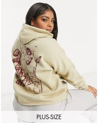 Missguided Graphic Hoody - Natural