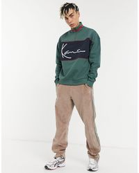 Karlkani Signature Block Half-zip Sweatshirt - Green