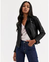 Vero Moda - Faux Leather Biker Jacket - Lyst