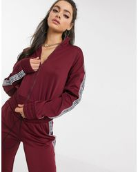 Juicy Couture Jxjc Tricot Logo Stripe Jacket Co - Ord - Red