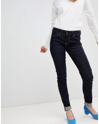 Pepe Jeans - Mid Rise Soho Skinny Jean With Contrast Stitch - Lyst