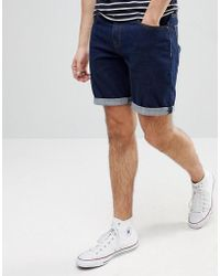 ASOS - Asos Denim Shorts In Slim Indigo - Lyst