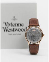 Vivienne Westwood Наручные Часы С Коричневым Ремешком Turnmill-коричневый