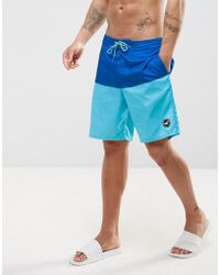 Hollister Solid Plain Board Shorts - Blue