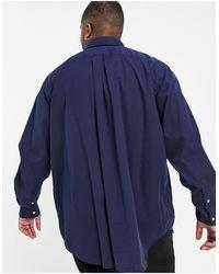 Polo Ralph Lauren - Темно-синяя Рубашка Классического Кроя На Пуговицах С Логотипом В Виде Игрока В Поло Big & Tall-темно-синий - Lyst