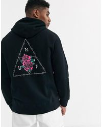 Huf - Dystopia Hoodie With Back Print In Black - Lyst