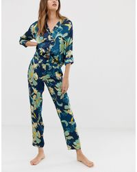 River Island Pajama Pants - Blue