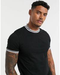 ASOS Camiseta con ribetes en negro