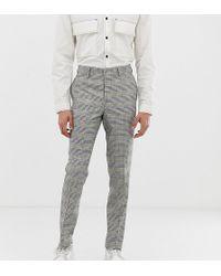 Noak Suit Pants In Grey Check - Gray