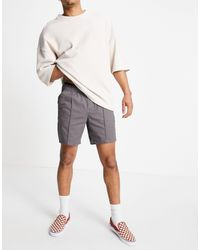 ASOS Skinny Chino Shorts With Elastic Waist And Pin Tuck - Multicolor