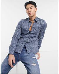 Paul Smith Getailleerd Overhemd Met Lange Mouwen - Blauw