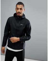 Patagonia - Houdini Packable Hooded Running Jacket Slim Fit Lightweight In Black - Lyst