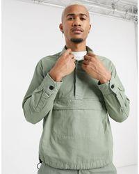 Mennace Ripstop Overhead Shirt With Pocket - Green