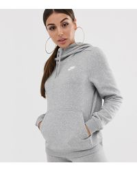 Nike Grey Club Fleece Hoodie - Gray