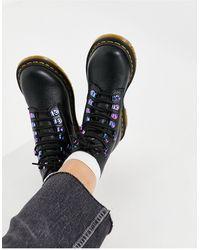 Dr. Martens - Черные Ботинки С Переливающейся Фурнитурой 1460 Pascal-черный Цвет - Lyst