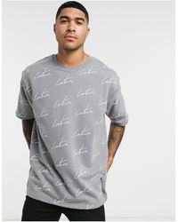 The Couture Club Repeat Signature Print T-shirt - Gray