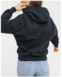 Quiksilver Sudadera negra extragrande con capucha - Negro