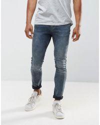Just Junkies Sicko Skinny Jeans In Overdye - Blue