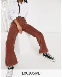 Reclaimed (vintage) Inspired The '87 Flared Jeans - Brown