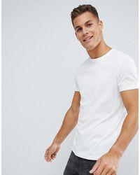 ASOS – es Bio-T-Shirt mit Rundhalsausschnitt - Weiß