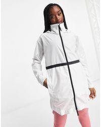 adidas – Longline-Jacke - Weiß