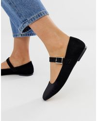 ASOS Links Mary Jane Ballet Flats - Black