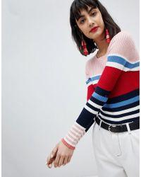 Esprit - Stripe Knitted Jumper - Lyst