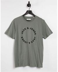 Jack & Jones T-shirt à logo minimaliste - Sauge - Vert