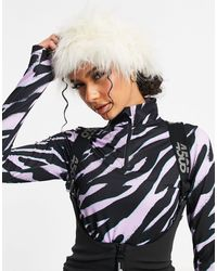 ASOS 4505 Ski Faux-fur Headband - Multicolour