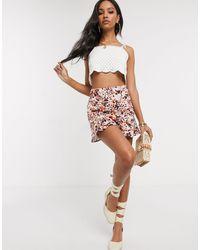 PrettyLittleThing Mini Skirt With Flippy Hem - Multicolour