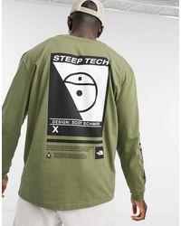 The North Face - Зелёный Лонгслив Steep Tech-зеленый - Lyst