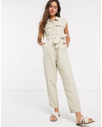 Rip Curl Off Duty Boiler Suit - Natural