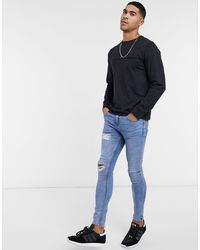 Another Influence Raw Edge Long Sleeve Top - Black