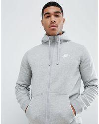 Nike Hoodie Zonder Sluiting Met Geborduurd Logo - Grijs
