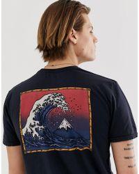 Quiksilver The Original Mountain & Wave T-shirt In Black