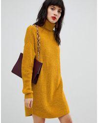 Vero Moda - Knitted Roll Neck Dress - Lyst