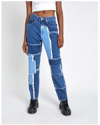 The Ragged Priest - Mom jeans effetto patchwork - Lyst