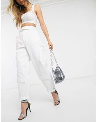 ASOS White Combat With Mesh Pockets