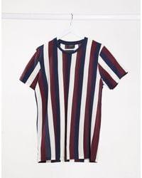 SELECTED Vertical Stripe T-shirt - Purple
