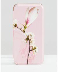 Ted Baker Coque Pour Iphone x Avec Miroir À Imprimé Harmony - Rose