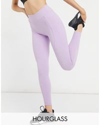 ASOS 4505 - Hourglass Icon legging With Bum Sculpt Seam Detail And Pocket-purple - Lyst
